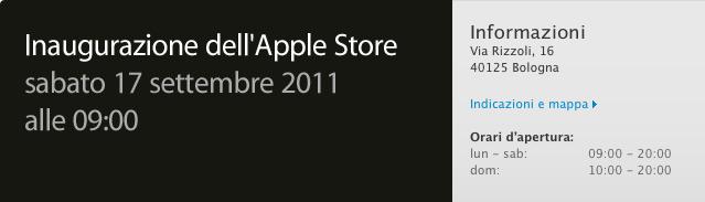 Apple Store Via Rizzoli - Inaugurazione