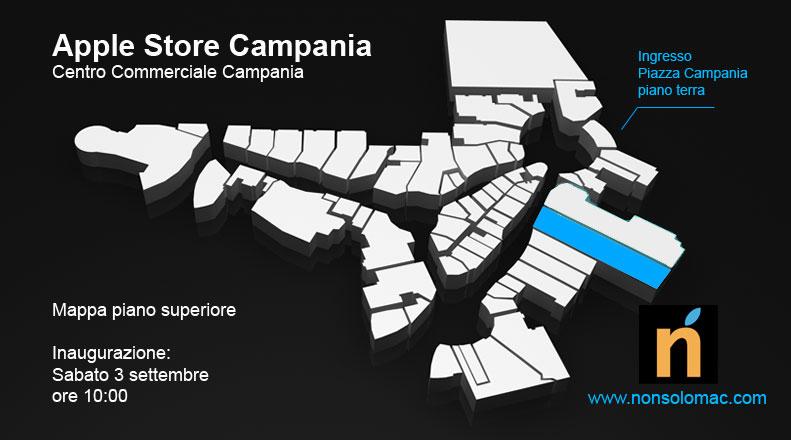 Apple Store Campania - Mappa primo piano con Apple Store evidenziato