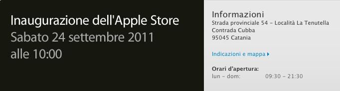 Apple Store Centro Sicilia - Inaugurrazione 24 settembre 2011