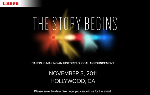 Canon - The Story Begins - Evento del 3 novembre 2011