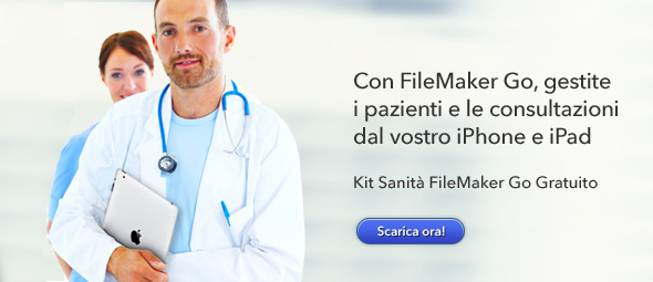 Kit sanità per FileMaker Pro e FileMaker Go per iPhone e iPad