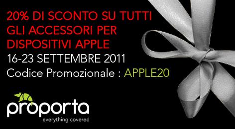 Proporta - Codice promozionale Apple20 - 20% di sconto su tutti gli accessori Apple *