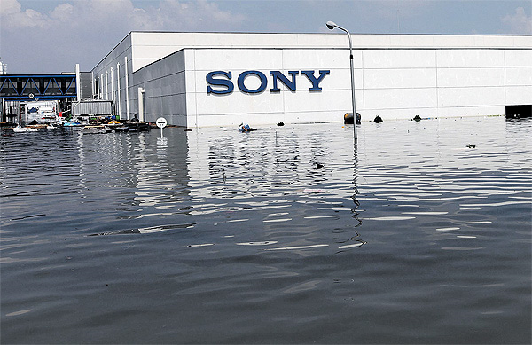 Sony - Stabilimento thailandese sommerso