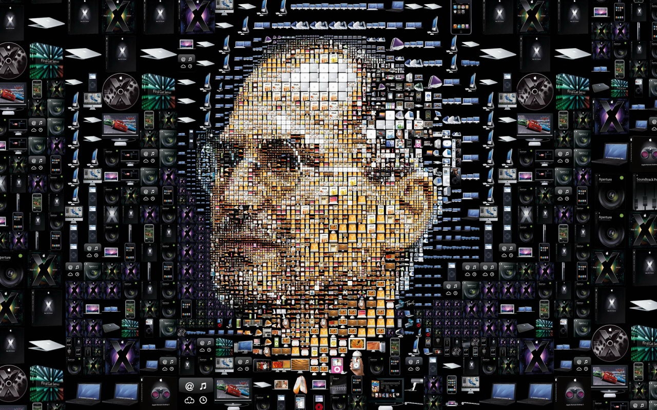 Steve Jobs - Puzzle con le icone di OS X