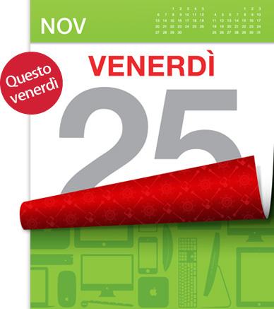 Apple Black Friday 2011 - Venerdì 25 novembre - Sconti speciali