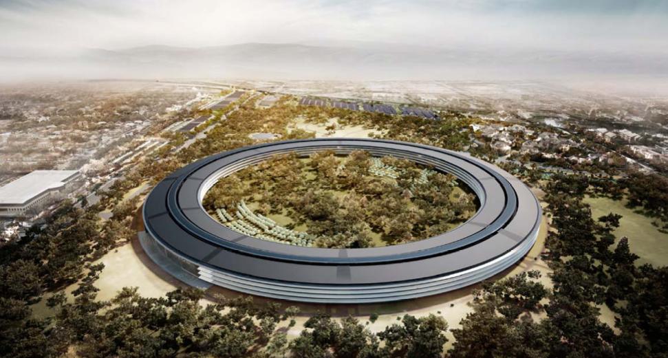 Apple - Rendering del Campus 2 in progettazione a Cupertino