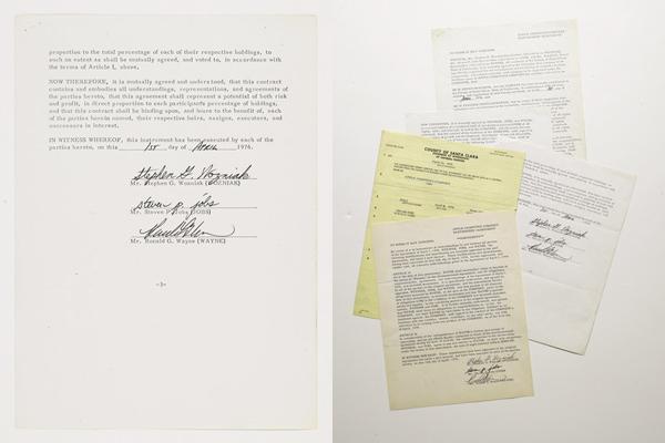 Apple - Contratto di fondazione del 1976