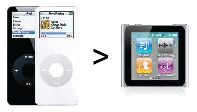 iPod nano 1G - Sostituzione con il 6G ?