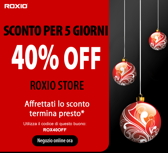 Roxio - Codice sconto Natale 2011