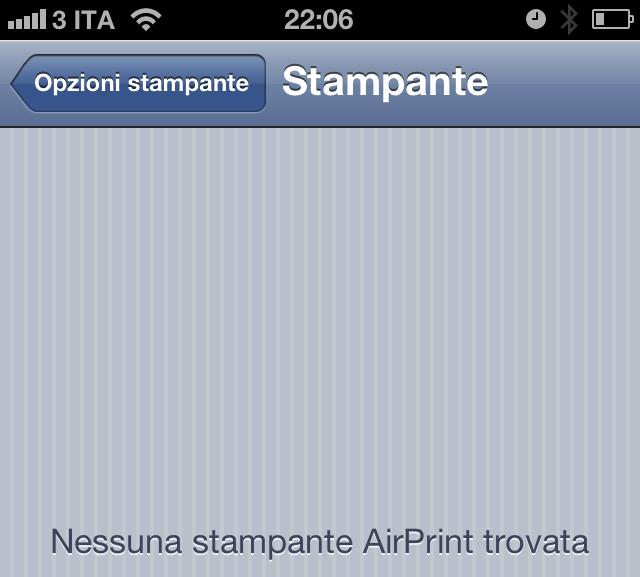 Brother MFC-J430W - iOS - AirPrint - Nessuna Stampante Trovata