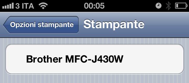 Brother MFC-J430W - Vista dall'iPhone 4 tramte AirPrint