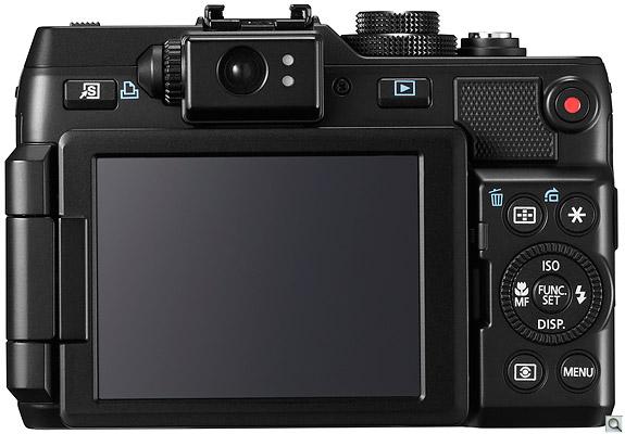 Canon Powershot G1 X - Pannello posteriore