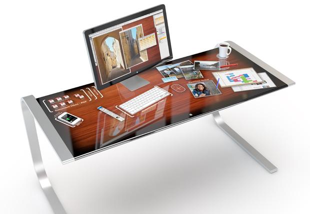 iDest - Il desktop tutto attorno a noi, reinterpretazione del Microsoft Surface in stile Apple