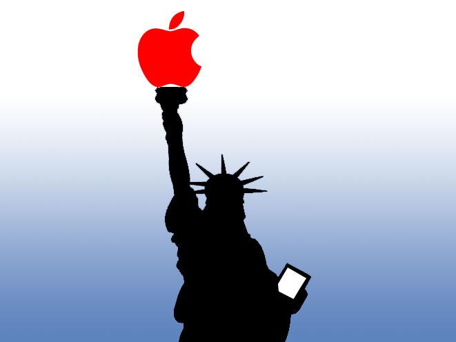 Statua della Apple - Rivisitazione della Statua della LIbertà