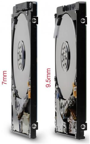 HD - confronto spessori - 9,5 mm contro 7 mm