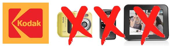 Kodak abbandona le fotocamere digitali, le videocamere tascabili e le cornici digitali