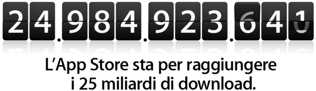 App Store - 25.000.000.000 applicazione scaricata - Countdown - Concorso