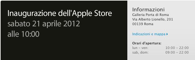 Apple Store Porta di Roma - L'inaugurazione del 21 aprile diventa ufficiale