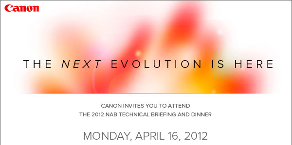 Canon - The next evolution - Invito per il 16 aprile 2012