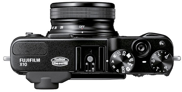 Fujifilm X10 vista da sopra