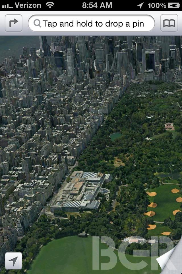 Apple Maps - Screenshot della presunta App che andrà a sostituire Google Maps in iOS 6