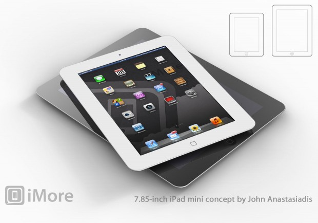 """iPad mini con schermo da 7"""" - Elaborazione pubblicata dal sito iMore"""