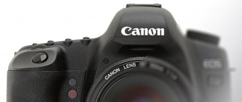 Canon reflex full-frame parzialmente oscurata