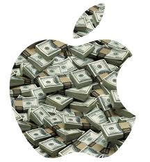 Logo Apple con texture dollari