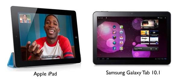 Confronto iPad e Samsung Galaxy Tab 10.1