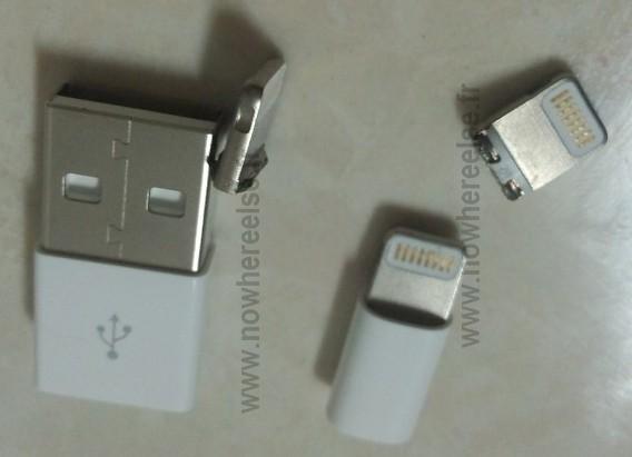 iPhone 5 - Connettore mini Dock mostrato da nowhereelse.fr