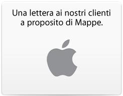 Apple - Lettera di Tim Cook ai clienti per le mappe