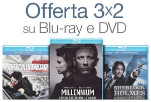 Amazon.it - Promozione 3 x 2 su Blu-Ray e DVD