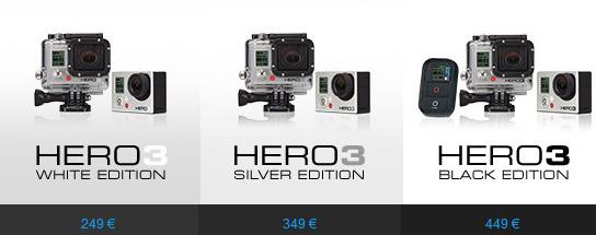 GoPro Hero3 - I prezzi per l'Italia