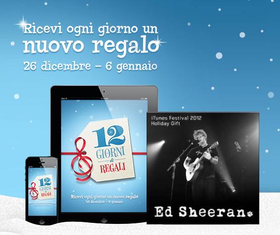 12 Giorni di Regali - iTunes Store - Ed Sheeran - Gratis