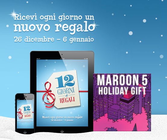 12 Giorni di Regali 2012 by iTunes Store - Maroon 5, Holiday Gift