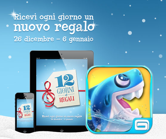 12 Giorni di Regali by iTunes Store - Gameloft - Shark Dash - Puzzle Game