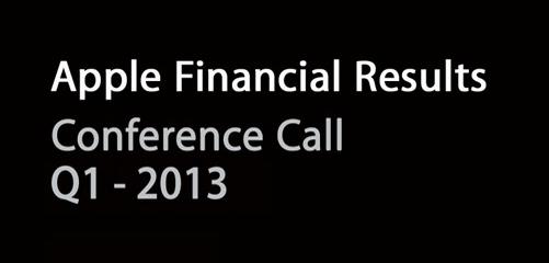 Apple - Risultati finanziari Q1 - 2013