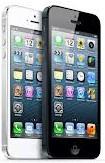 iPhone 5 bianco e nero sovrapposti