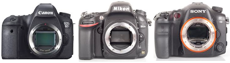 Canon EOS 6D, Nikon D600 e Sony Alpha A99