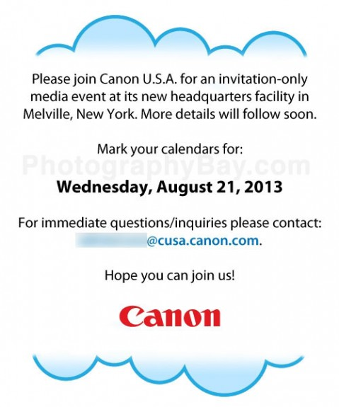 Canon - Media Press event - 21 agosto 2013