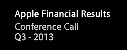 Apple - Conference Call - Q3-2013