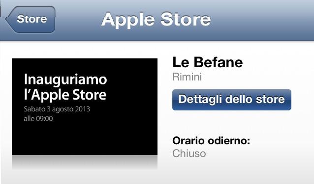Apple Store Le Befane - Rimini - Inaugurazione sabato 3 agosto 2013