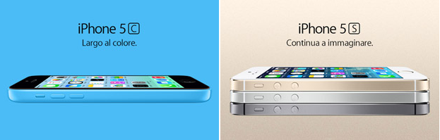 iPhone 5S e iPhone 5C - Banner sito Apple