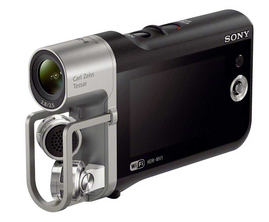 """Sony HDR-MV1, la prima videocamera """"musicale"""" con suono PCM stereo non compresso"""