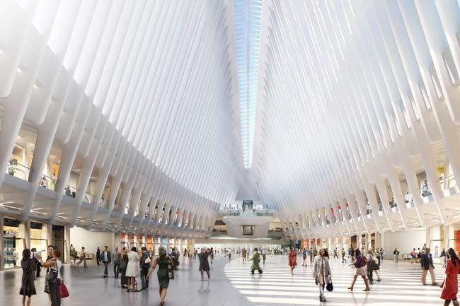 Rendering del centro commerciale del One World Trade Center di New York