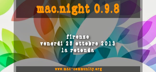 mac.night 0.9.8 - Firenze - Ristorante Pizzeria La Rotonda - Mac-community - AMUG Firenze