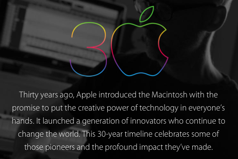 Apple 30th Anniversary message