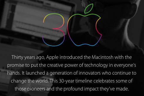 Apple 30th Anniversary message