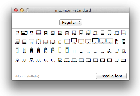 FONT - Mac Icon Standard