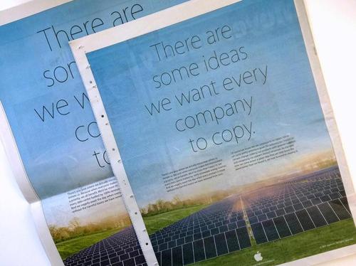 Earth Day - Pubblicità Apple